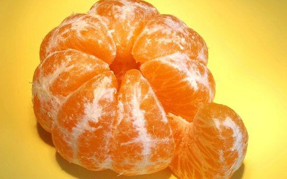 Бесплатные фото фрукт,цитрус,мандарин,дольки,витамины