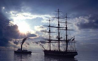 Заставки море, корабли, буксир