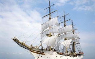 Фото бесплатно корабль, мачты, паруса
