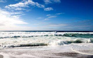 Фото бесплатно песок, облака, берег