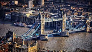 Бесплатные фото Лондон,Темза,река,пароходы,Тауэрский мост,дома,здания