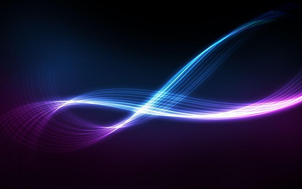 Фото бесплатно вьющиеся, полосы, линии, разноцветные, темный, фон, спираль, абстракции