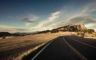 Фото бесплатно горы, трасса, асфальт