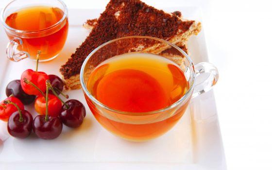 Фото бесплатно чашки, чай, пирог
