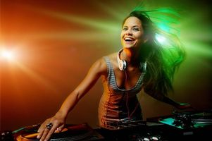 Photo free headphones, music, girl DJ
