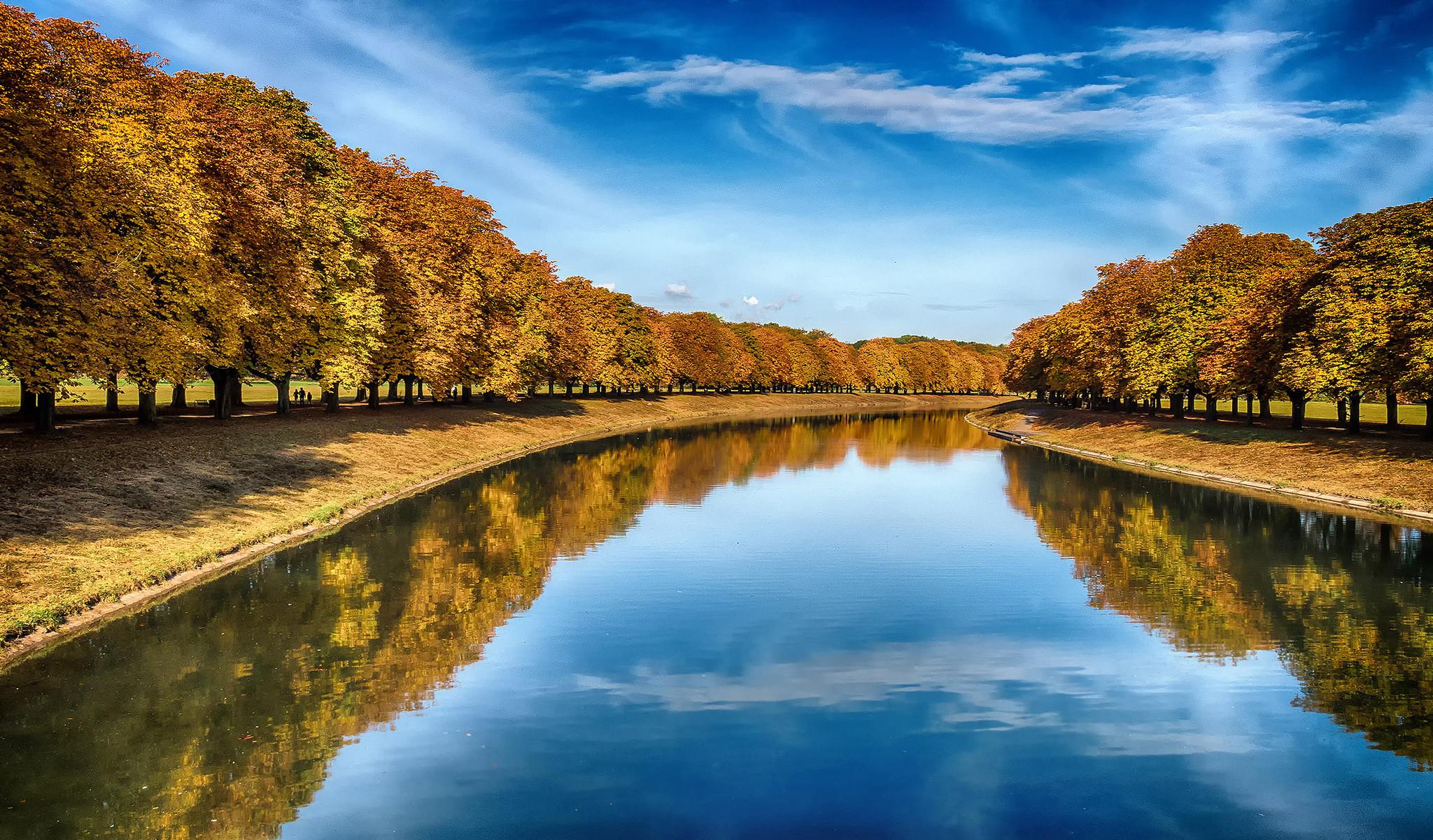 обои Германия, осень, река, парк картинки фото