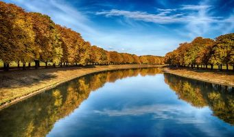 Бесплатные фото Германия,осень,река,парк,деревья,пейзаж