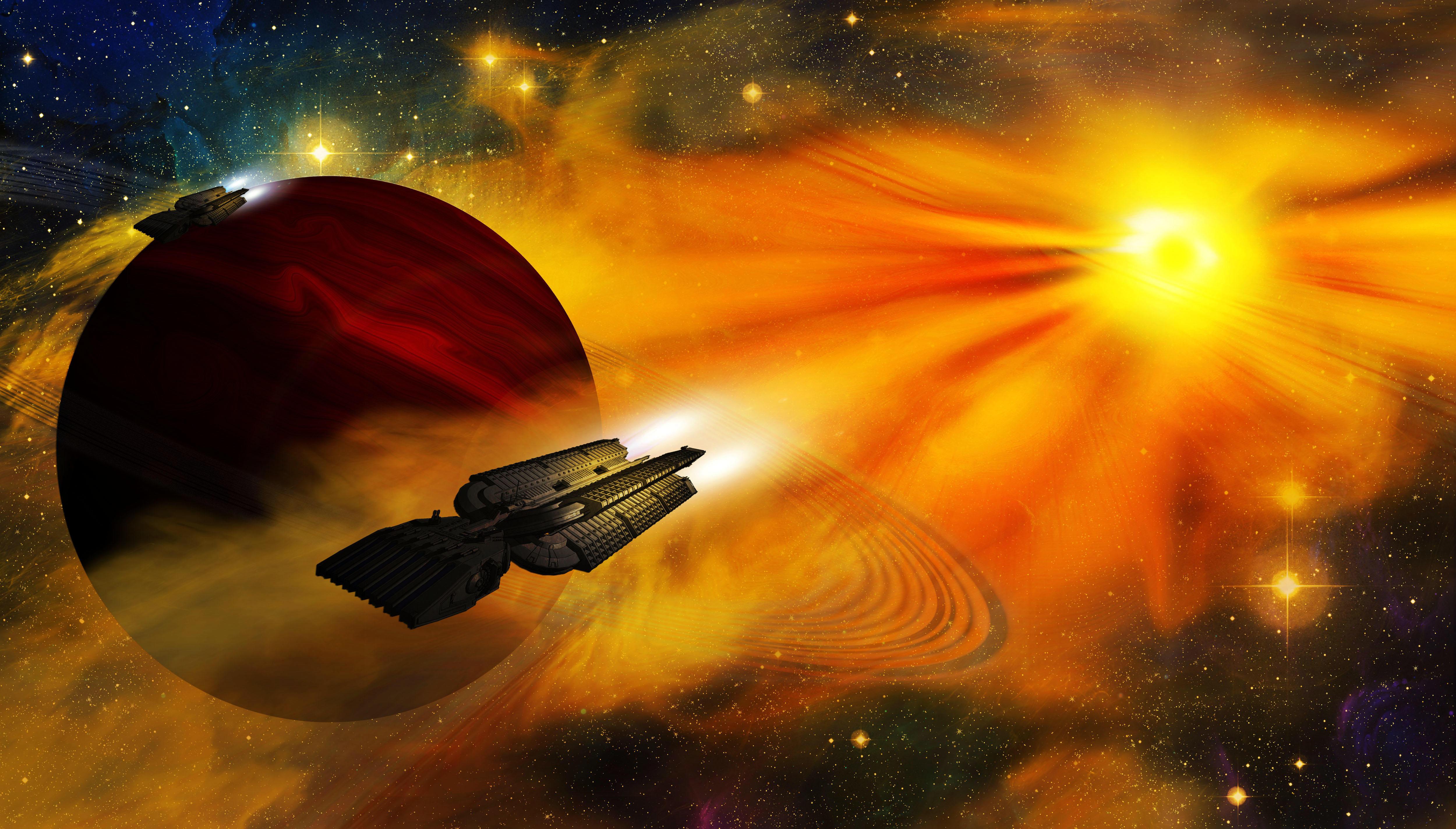 Обои Космос, планета, Необъятные просторы космоса, вселенная