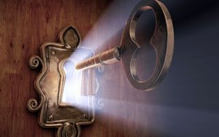 Заставки замок, ключ, свет, дверь