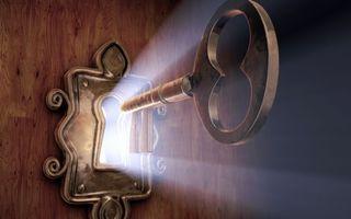 Фото бесплатно замок, ключ, свет