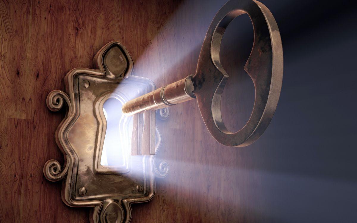 Фото бесплатно замок, ключ, свет, дверь, разное