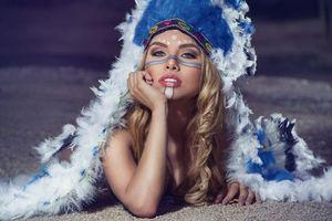 Фото бесплатно красивый макияж, лицо, блондинка