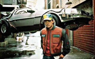 Photo free Back to the Future, DeLorean DMC-12, Marty McFly