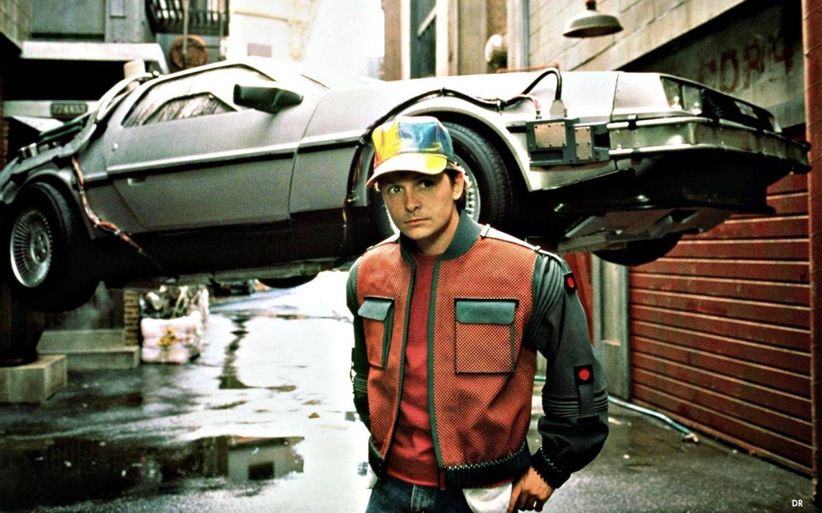 Фото бесплатно Назад в будущее, DeLorean DMC-12, Марти Макфлай - на рабочий стол