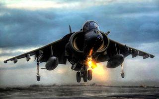 Фото бесплатно взлет истребителя, полет, аэродром