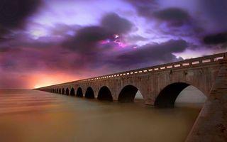 Фото бесплатно море, мост, арки