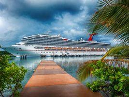 Гондурас, Остров Роатан, Carnival Glory, круизное судно, корабль