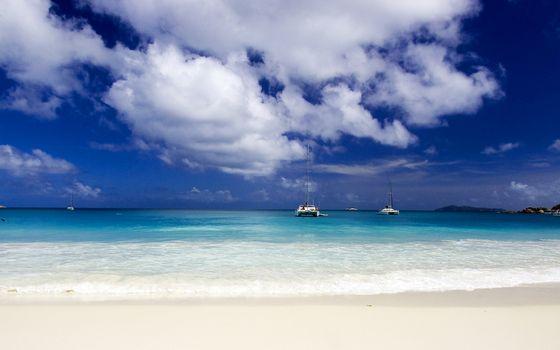 Фото бесплатно облака, мачта, берег