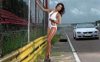 Photo free bmw, white, road