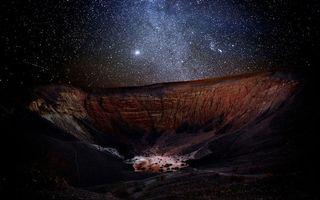 Фото бесплатно кратер, воронка, ущелье