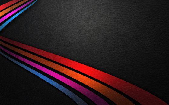 Заставки разноцветные линии, кожаный фон, радуга