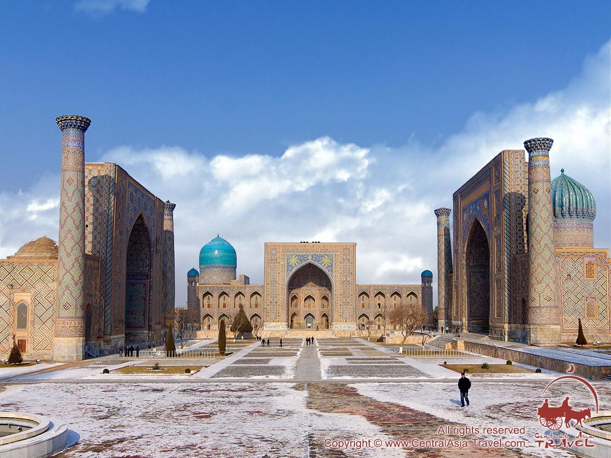 Узбекистан, Самарканд, Площадь