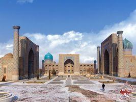 Бесплатные фото Узбекистан,Самарканд,Площадь,Регистан