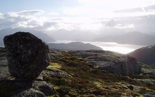 Бесплатные фото горы,камни,валуны,залив,небо,облака,солнце