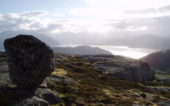 Фото бесплатно камни, горы, солнце