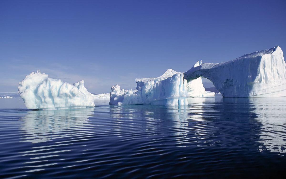 Фото бесплатно океан, льдины, айсберг, арка, небо, голубое, природа
