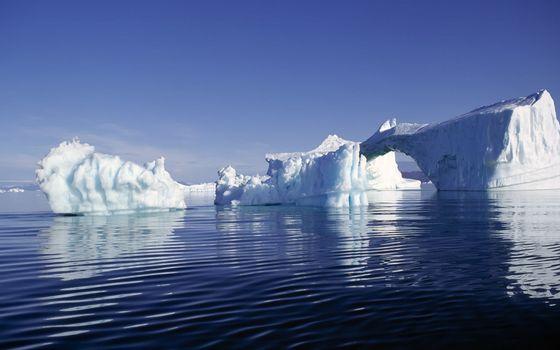 Заставки океан, льдины, айсберг