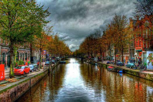 Заставка амстердам, панорама