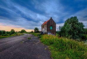 Фото бесплатно Гельдерланд, Нидерланды, закат
