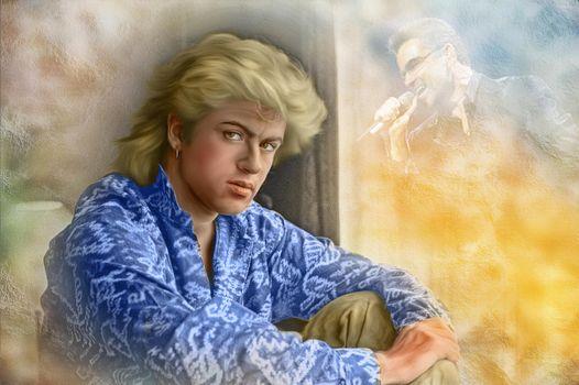 Бесплатные фото George Michael,Джордж Майкл,музыкант,портрет,холст
