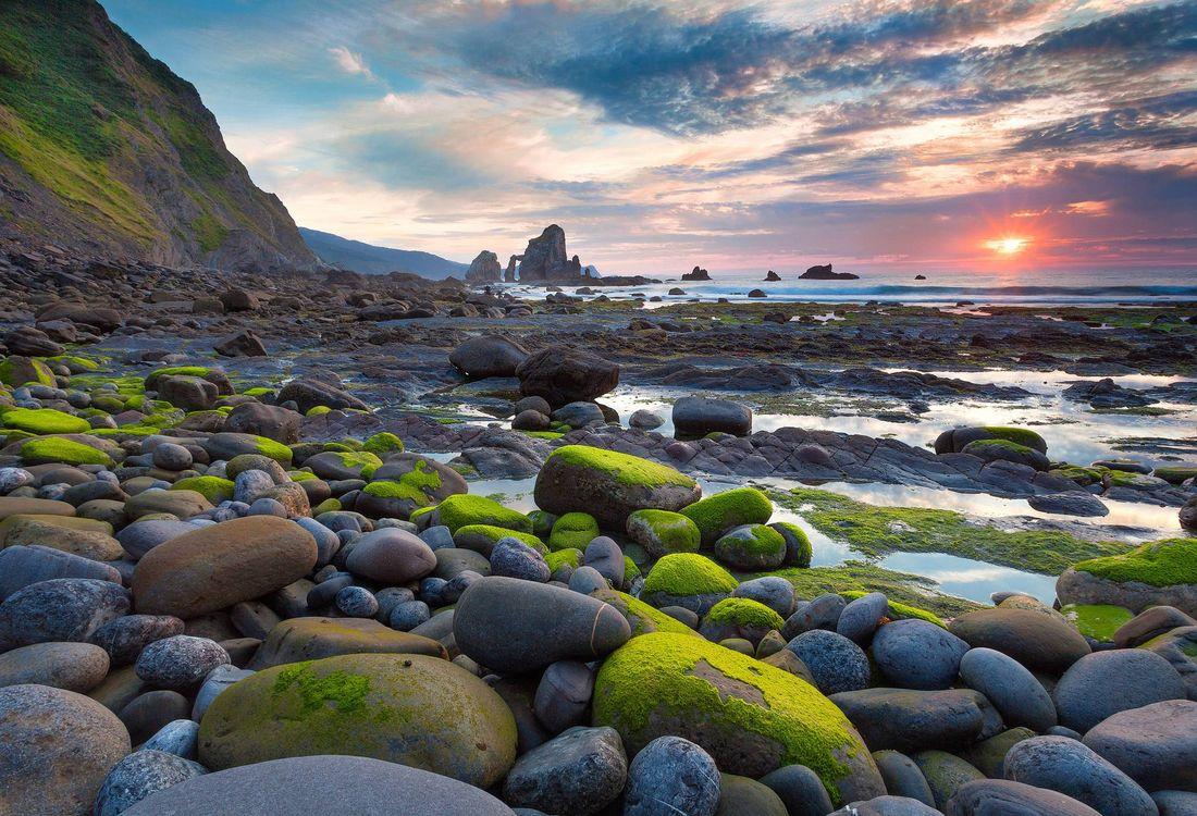 Фото бесплатно море, берег, скалы, камни, Паис Васко, Испания, пейзаж, пейзажи