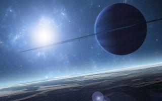 Бесплатные фото планеты,кольца,солнце,свечение,вакуум,невесомость