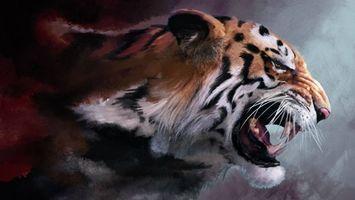 Бесплатные фото тигр,оскал,пасть,клыки