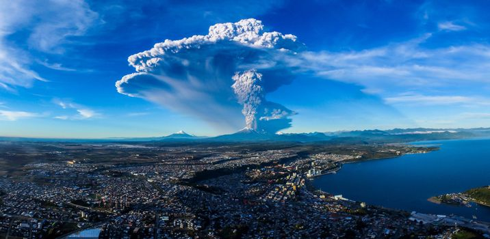 Photo free Vulcan Calvuco, Chile, Calbuco Volcan