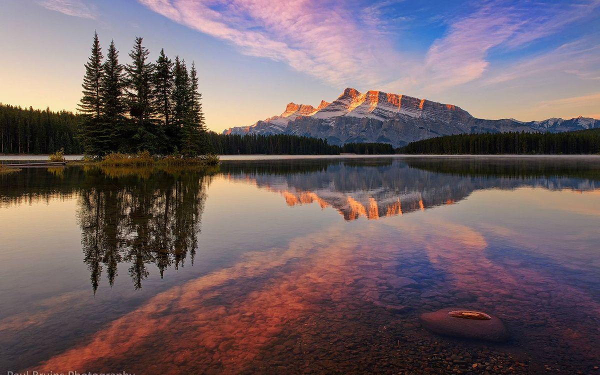Фото бесплатно гора, озеро, отражение - на рабочий стол