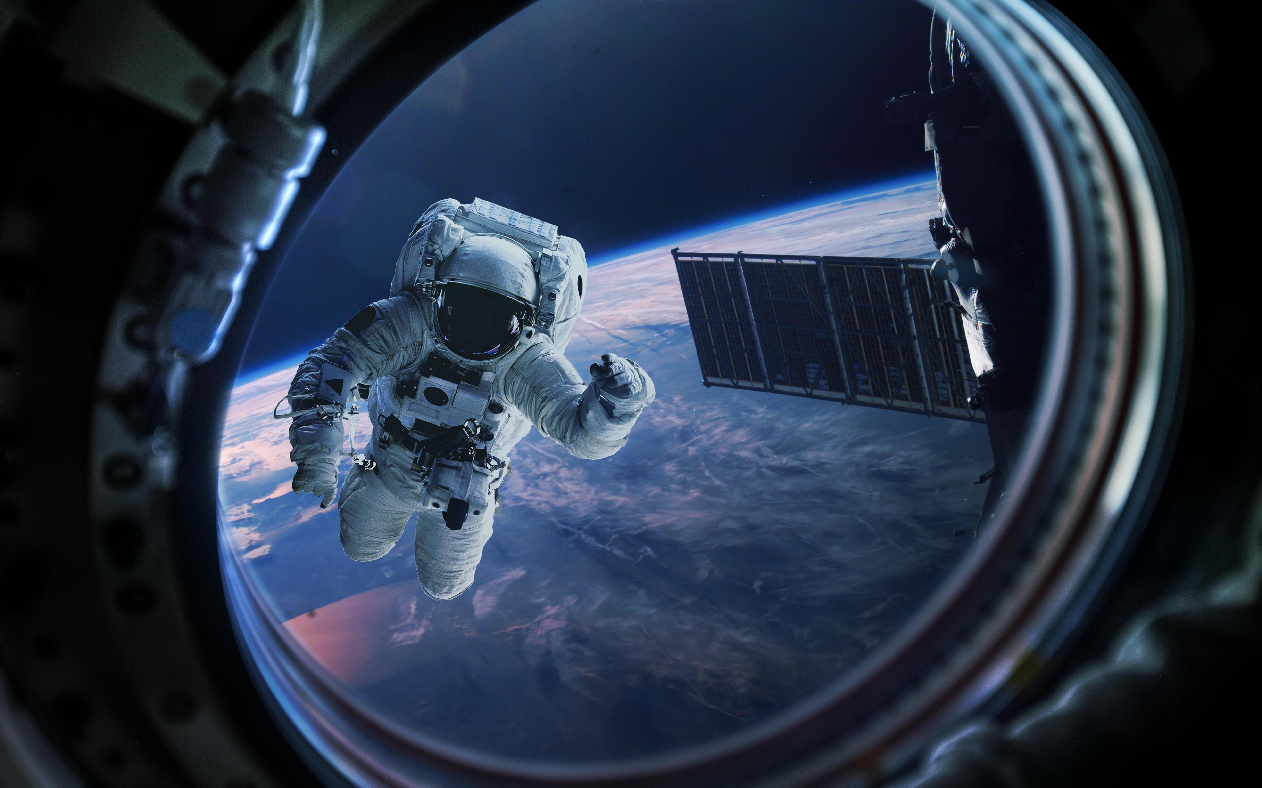 обои космос, планета, космонавт картинки фото