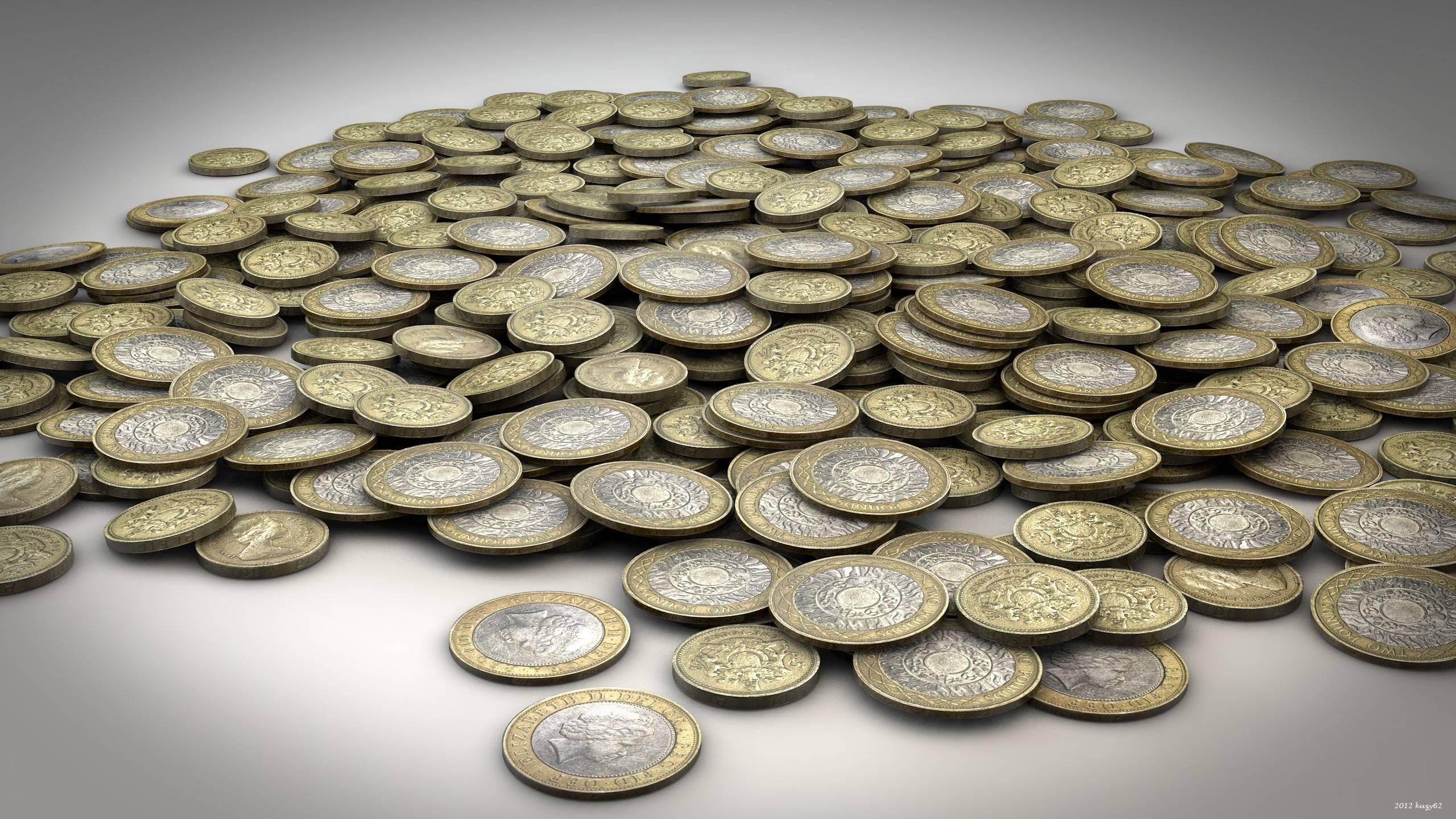 Обои монеты, деньги