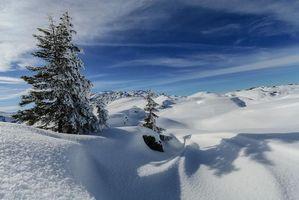 Фото бесплатно зима, холмы, горы