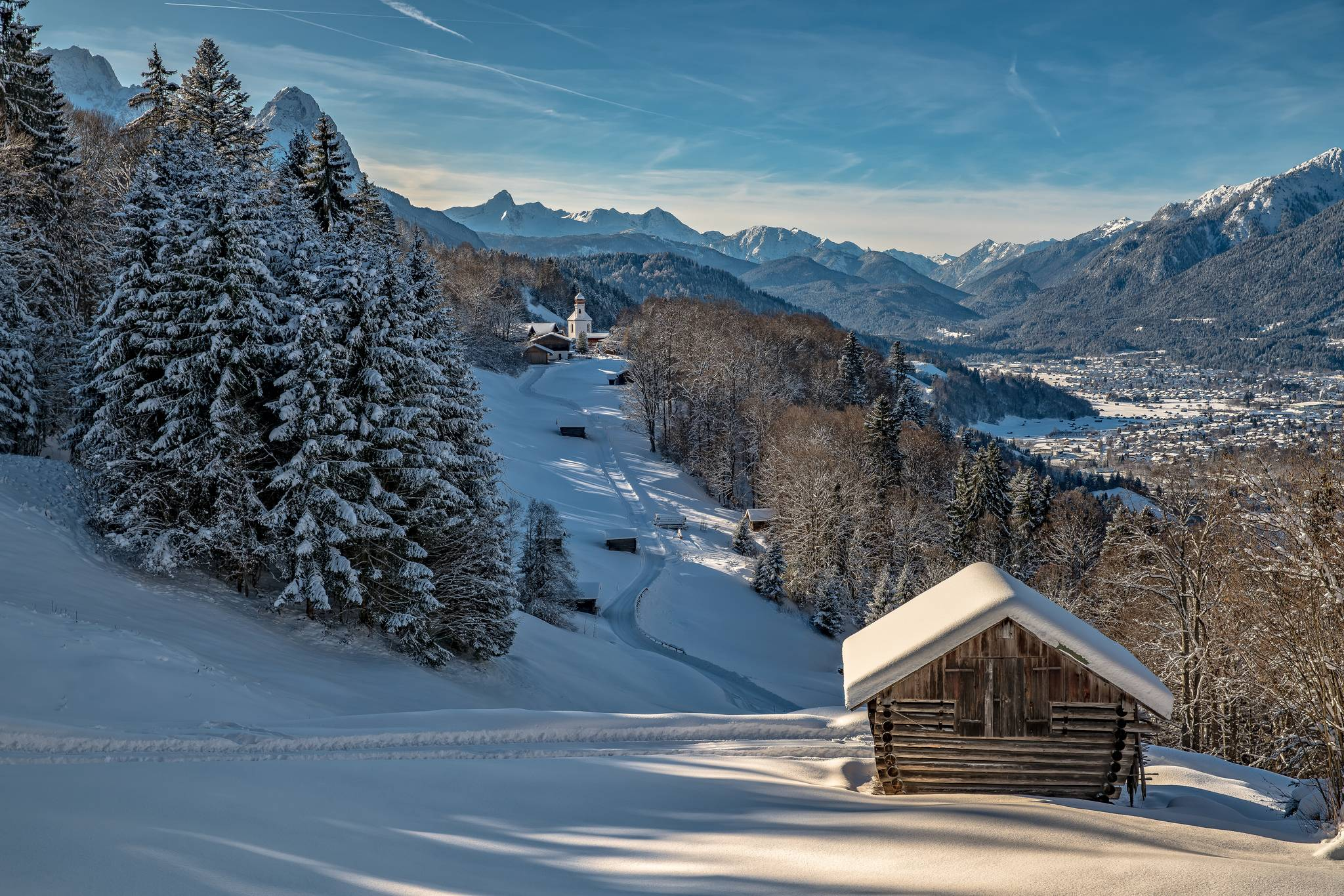 Бавария, Германия, зима