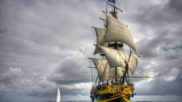 Фото бесплатно корабль, палуба, мачты