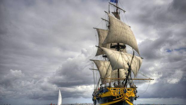 Photo free ship, deck, masts