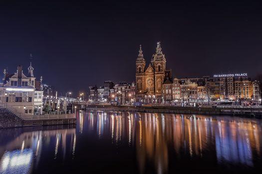 Фото бесплатно столица Голландии, Амстердам, Нидерланды