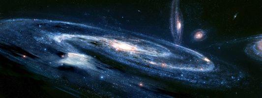 Фото бесплатно галактики, звезды, скопление звезд