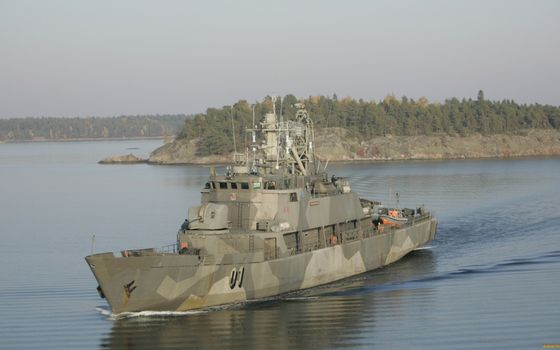 Photo free military boat, deck, weapons