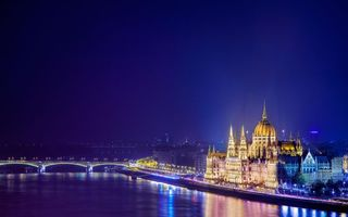 Фото бесплатно Будапешт, Ночь, Парламент