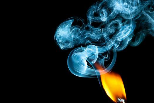Фото бесплатно спичка, пламя, дым